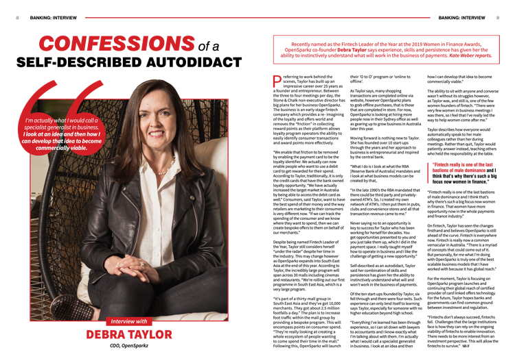 Australian Banking and Finance interview with Debra Taylor